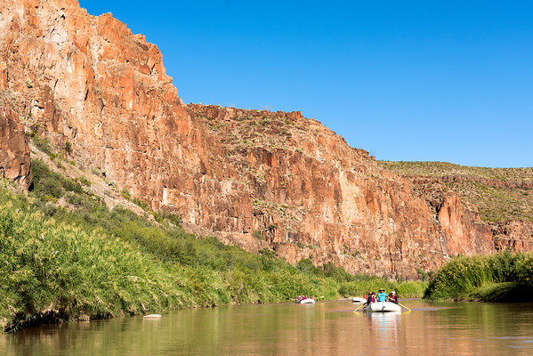 Rafting down the Rio Grande, with Mexico on the left and the US to the right!