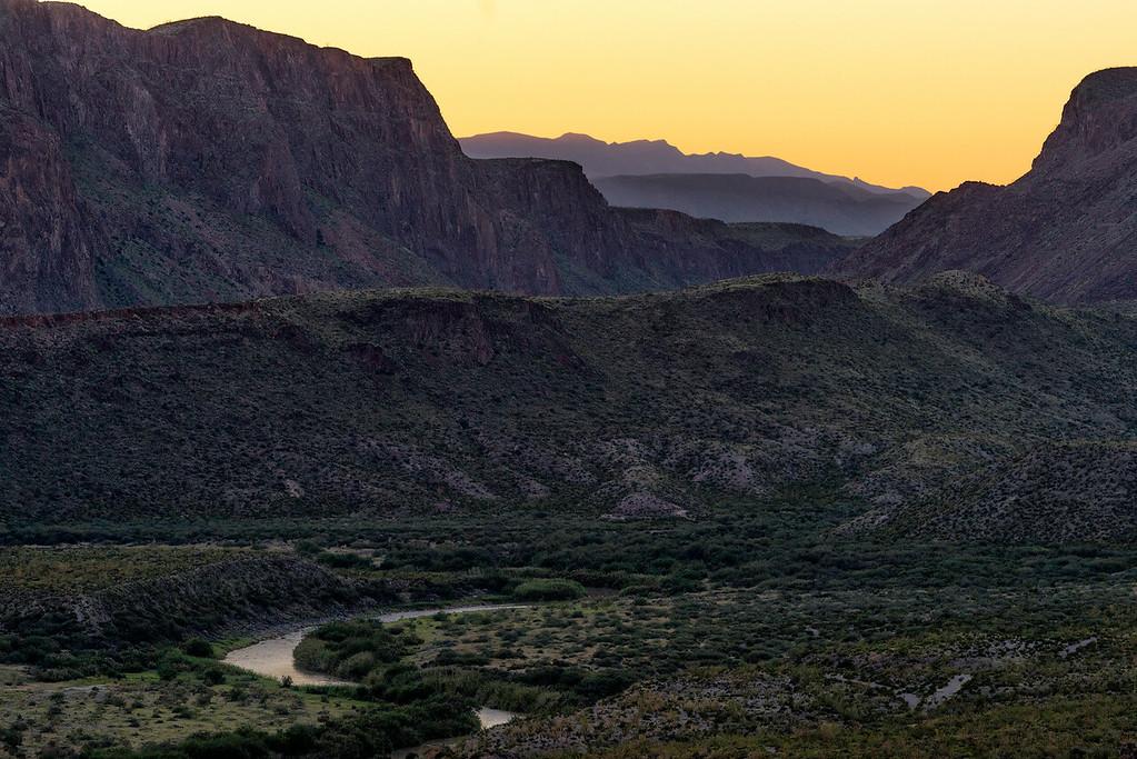 Sunset over the Rio Grande