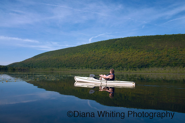 Kayaking on Labrador Hollow Pond copy