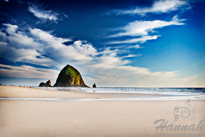 View of Haystack Rock located in Cannon Beach, Oregon Coast  © Copyright Hannah Pastrana Prieto