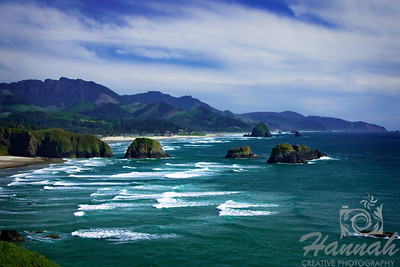 Cannon Beach, Oregon Coast ... View of the rock formations Shot from the Ecola State Park  © Copyright Hannah Pastrana Prieto