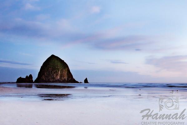 View of Haystack Rock located in Cannon Beach, Oregon Coast  © Copyright Hannah Pastrana Prieto