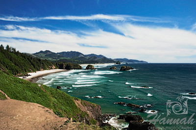 Cannon Beach, Oregon Coast Shot from the Ecola State Park  © Copyright Hannah Pastrana Prieto