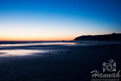Stretch of Cannon Beach in the Oregon Coast ... Shot at dusk  © Copyright Hannah Pastrana Prieto