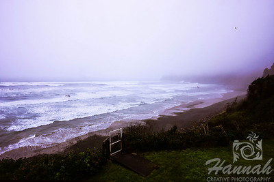 View of the beach of Cape Meares located in the Oregon Coast shot on a gloomy and rainy day  © Copyright Hannah Pastrana Prieto