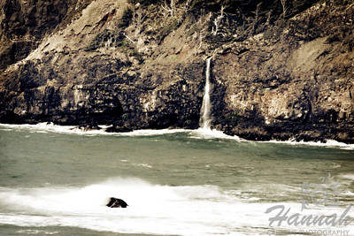 A waterfall at the side of Cape Meares State Park located in the Oregon Coast   © Copyright Hannah Pastrana Prieto