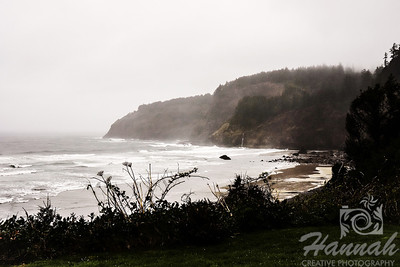 View of Cape Meares located in the Oregon Coast shot on a gloomy and rainy day  © Copyright Hannah Pastrana Prieto