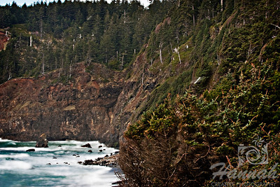 View of the cliffs of Cape Meares located in the Oregon Coast  © Copyright Hannah Pastrana Prieto