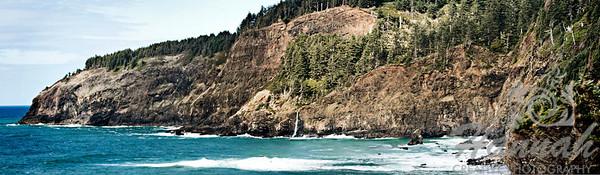 Panorama of Cape Meares located in the Oregon Coast  © Copyright Hannah Pastrana Prieto