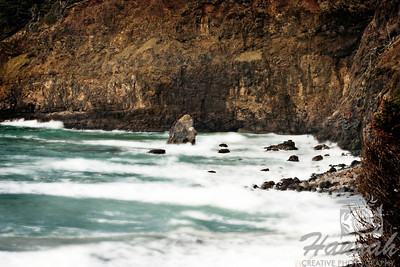 View of the rock formations at the side of the cliffs of Cape Meares located in the Oregon Coast  © Copyright Hannah Pastrana Prieto