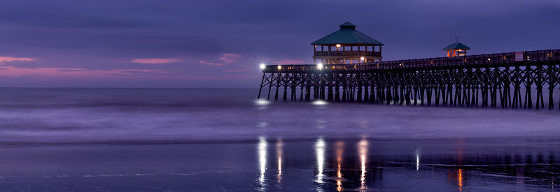 Folly Beach Pier in the blue hour