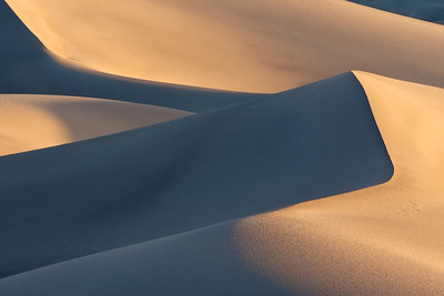 The Mesquite Dunes at sunrise
