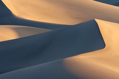 The Mesquite Dunes at sunrise