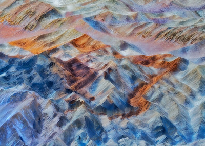 Blue Pastel Dreams, 20 Mule Team Canyon abstract.