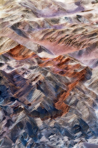 The Red Ribbon.  20 Mule Team Canyon abstract