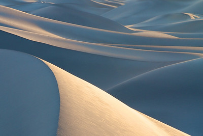 The Mesquite Dunes at dawn, Death Valley.
