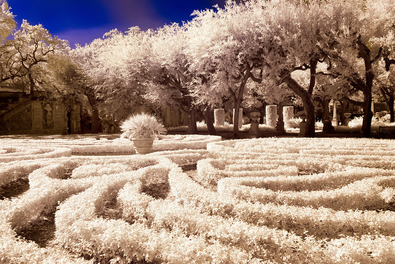 infrared capture<br /> Vizcaya Villa and Gardens<br /> Miami, Florida