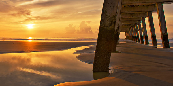 """""""Low Tide Tybee"""" - Tybee Island, Georgia   Recommended Print sizes*:  4x8      5x10     8x16     10x20     12x24     20x40  *When ordering other sizes make sure to adjust the cropping at checkout*  © JP Diroll 2013"""