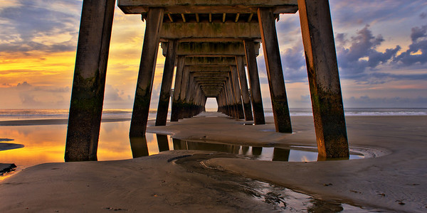 """""""Tides of Tybee"""" - Tybee Island, Georgia   Recommended Print sizes*:  4x8      5x10     8x16     10x20     12x24     20x40  *When ordering other sizes make sure to adjust the cropping at checkout*  © JP Diroll 2013"""
