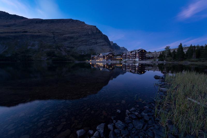 Many Glacier Hotel<br /> Swiftcurrent Lake<br /> Many Glacier