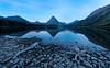Blue light before sunrise<br /> Two Medicine Lake