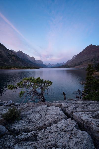 Sunrise at Saint Mary Lake