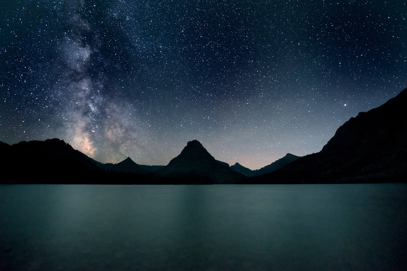 Milky Way over Two Medicine Lake