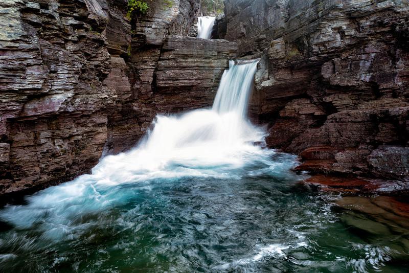St. Mary's Falls<br /> near St. Mary's Lake