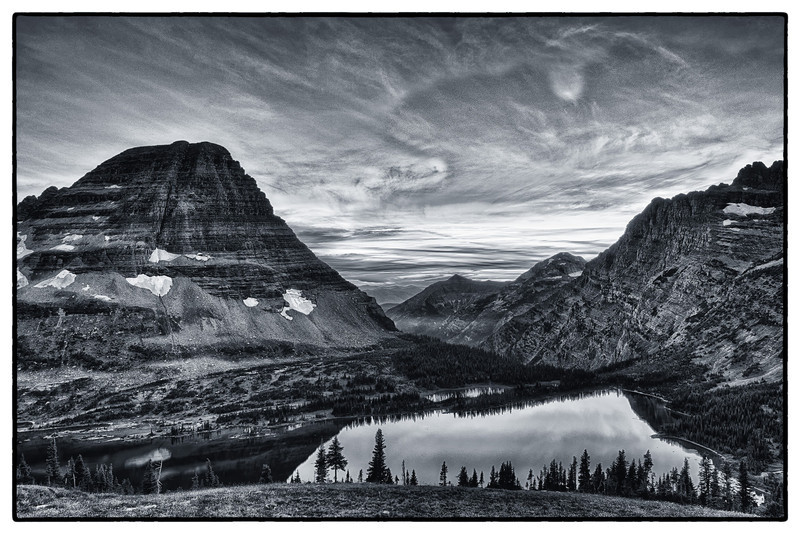 Sunset at HIdden Lake<br /> Logan Pass