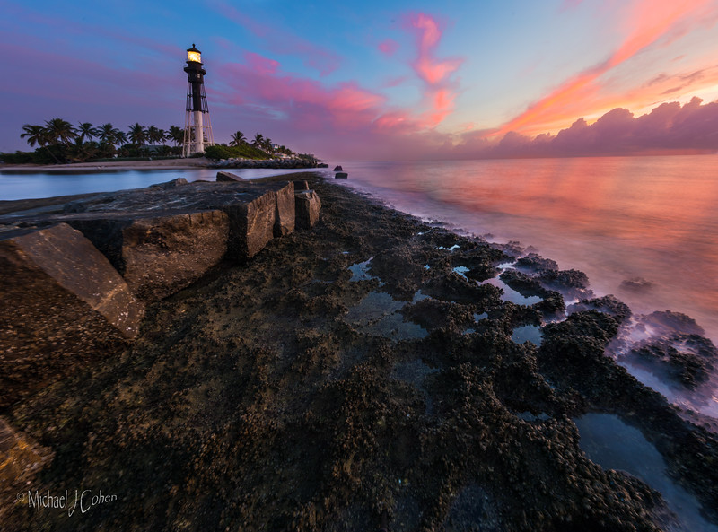 Lighthouse, North Jetty Sunrise (low tide)-2