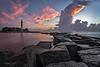 Hillsoboro Lighthouse Dawn from the Rocks 307 (1 of 1)