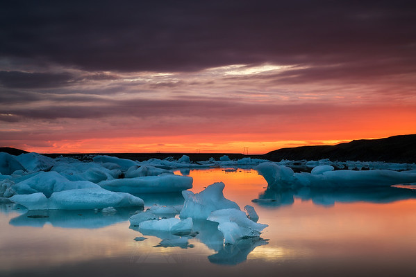 Dawn Over Jokulsarlon