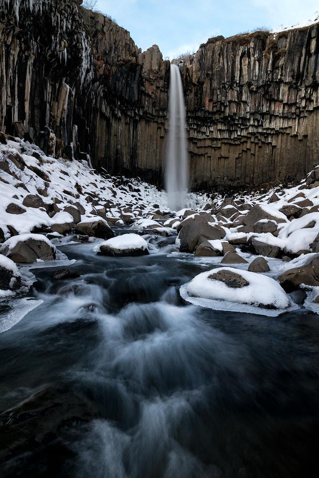 """Svartifoss in Winter"""