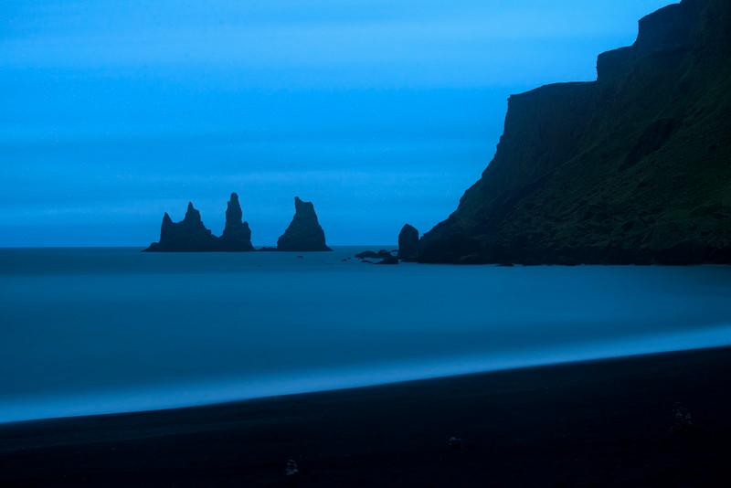 Sea Stacks at Vik, near midnight