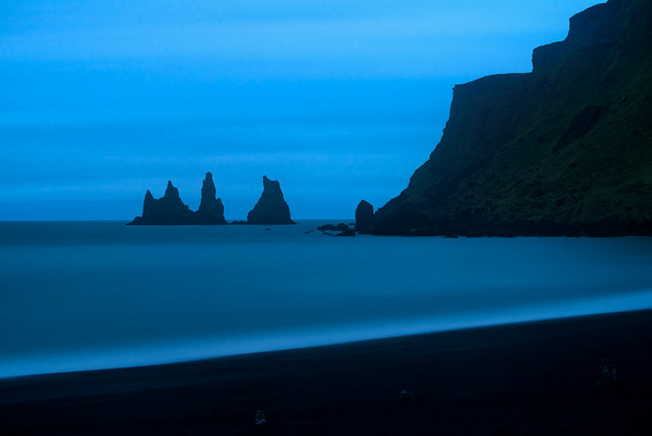 Sea Stacks at Vik, near midnight