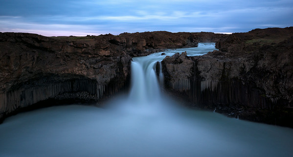 Aldeyjarfoss at sunset