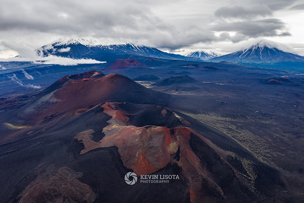 Craters on Tolbachik volcano in Kamchatka, Russia