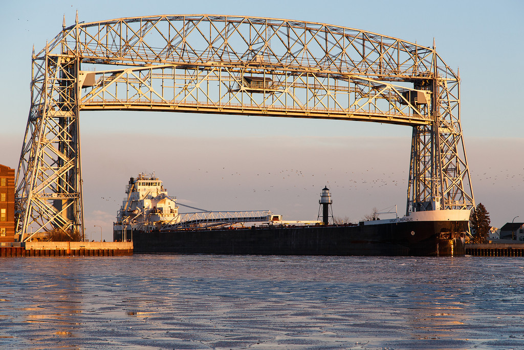 Duluth Lift Bridge, Duluth Minnesota.