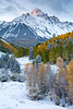 Mt. Sneffels blanketed in fresh snow.<br /> <br /> San Juan Mountains, Colorado