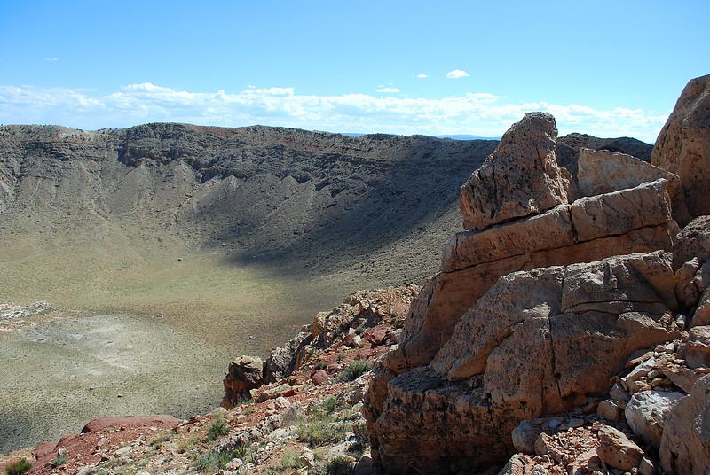 meteor crater rocks