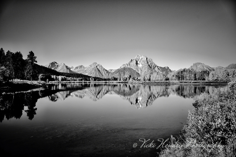 Oxbow Bend in Autumn in Black & White
