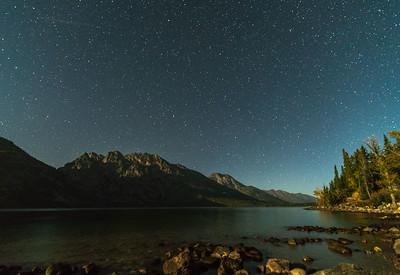 Night Sky Over Jenny Lake