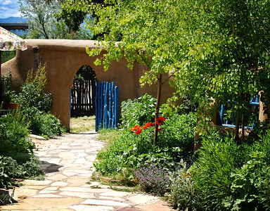 Garden path in Taos, NM
