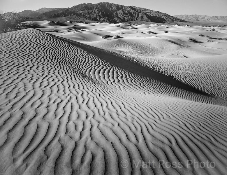MESQUITE DUNES, OLD STOVEPIPE WELLS ENTRANCE, DEATH VALLEY