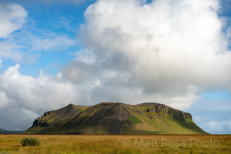 CLOUD, CINDER CONE(?), SOUTH ICELAND
