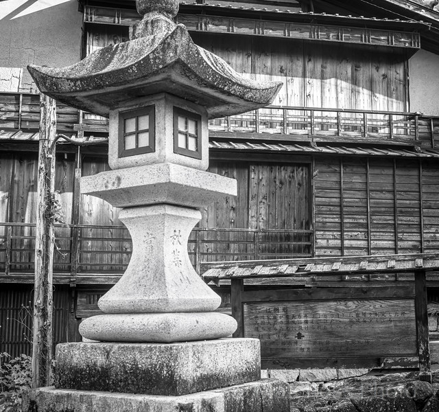 LANTERN AND SHRINE, MAGOME, JAPAN