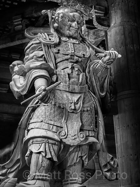 KOMOKUTEN, GUARDIAN OF THE GREAT BUDDHA, (DAIBUTSUDEN)