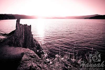 Sunset in monochrome at Henry Hagg Lake & Scoggins Valley Park in Oregon  © Copyright Hannah Pastrana Prieto