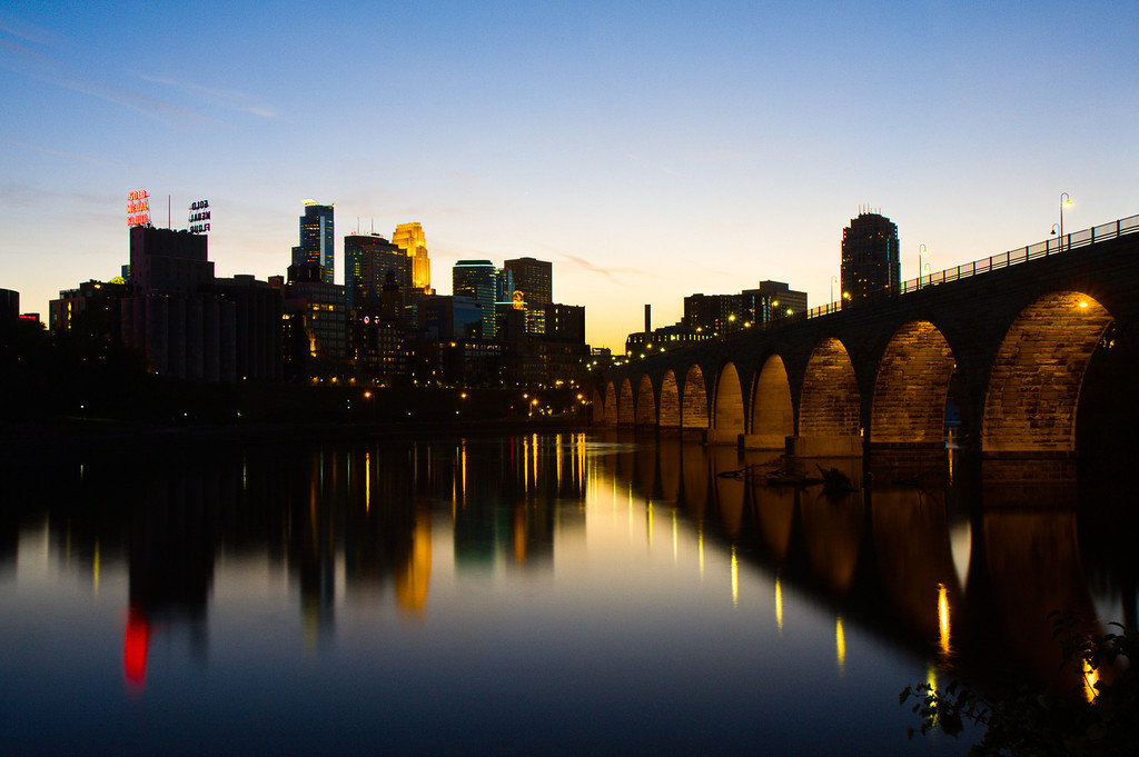 Minneapolis Skyline at Sunset
