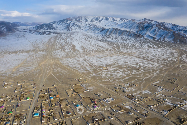 Town of Sagsai in the Altai Mountains of Western Mongolia